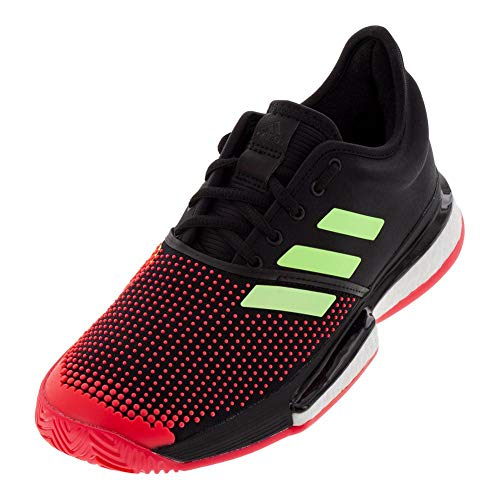 adidas SoleCourt Boost Core Black/Hi-Res Yellow/Shock Red 8.5