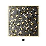 BGFDV Hintergrundwanddekoration Retro goldene Zellkette