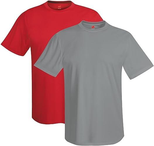 Hanes Pour des hommes 4 oz. Cool Dri T-Shirt(4820)-Deep rouge Graphite-2XL