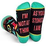Lavley Funny Stoner Weed Socks - Unisex Crew Length (Weed)