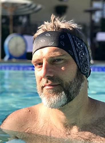 Swimming Headband - Designed to Help Prevent swimmer's Ears. Perfectly fits Men, Women and Teens as They are Fully Adjustable. Made of Waterproof Neoprene. Helps Keep Swimming earplugs in!