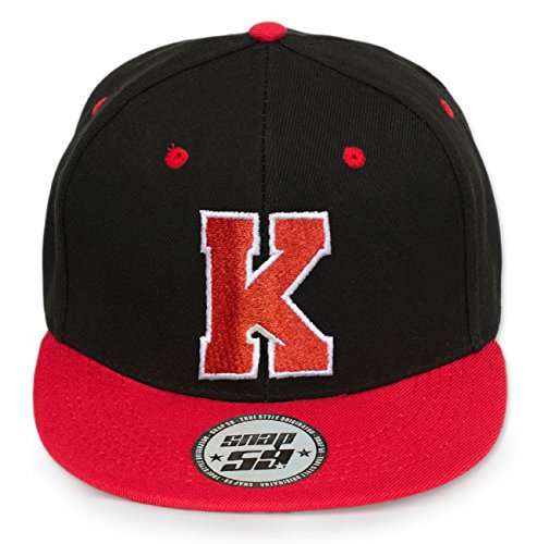 4sold ABC Rot Schwarz Cap Snapback Cappy Caps Mütze Aufschrift Beanies Basecap CRO (K)