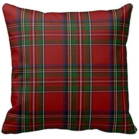 "Home Decorative Stylish Royal Stewart Tartan Plaid Pillow Throw Pillow Cover Cushion Case 18"""