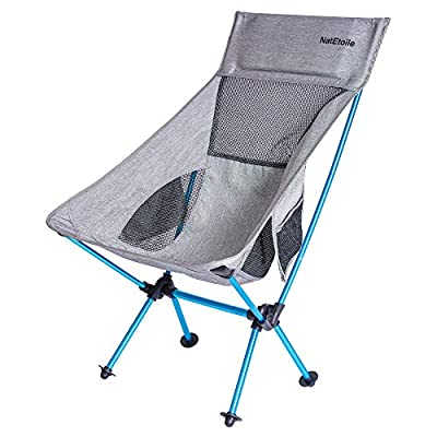 Camping Chair Foldable, Ultralight Portable Outdoor Camp Chair with High Back and Side Pockets, Comapct Portable Chair, Backpacking Chair, Lawn Chair