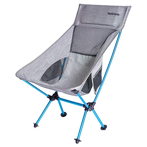 Camping Chair Foldable, Ultralight Portable Outdoor Camp Chair with High Back and Side Pockets, Comapct Portable Chair, Lawn Chair