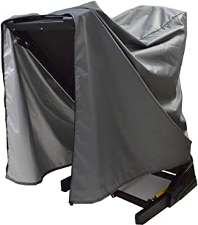 Mini Lustrous Treadmill Cover, Folding Running Machine Protective Cover Dustproof Waterproof Cover for Indoor Or Outdoor Use, 46 L x 38 W x 66 H(Gray)