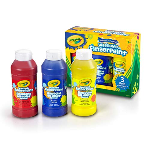 Crayola 8Ounce Primary Washable Fingerpaint 3 Count