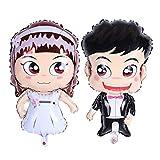 NUOLUX 2 Pcs Folienballons Hochzeit Brautpaar Luftballon Braut und Bräutigam Ballons Hochzeit Geschenk Foto Requisiten