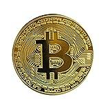 1pc Bitcoin Moneda De Coleccin Monedas Conmemorativas De Oro De Color Casascius bit Monedas Conmemorativas Coin Coin BTC Coleccin De Arte Fsicas