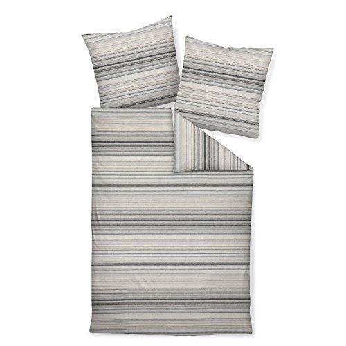Janine Design Feinbiber Bettwäsche Davos 65011-08 1 Bettbezug 135 x 200 cm + 1 Kissenbezug 80 x 80 cm