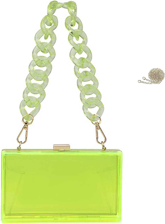 Fozehlad Women Clear Purse Acrylic Bag Clutch Transp Evening 40% OFF Cheap Sale Box price