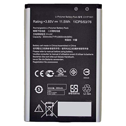 Hubei 3.85V 11.5Wh C11P1501 0B200-01770200 Batteria del Computer Portatile di Ricambio per ASUS ZenFone 2 Laser ZE601KL ZE551KL ZE550KL ZD551KL