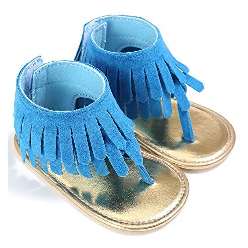 Youpin Baby tofs sandaler skor barn barnvagn spjälsäng sommar första promenaders frans mockasiner skor spädbarn sandaler (baby ålder: 0 6 månader, färg: blå)