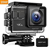 APEMAN Action Camera 4K 20MP Wifi Sports Underwater 40M with EIS 24 Mounting