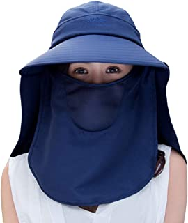Womens Sun Hats Neck Flap Large Brim UV Protection Foldable Fishing Hiking Cap Summer Travle Beach Hats