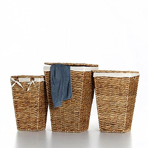 Casa Mina Wäschekorb Wäschebox Wäschesammler aus Wasserhyazinthe Brunei 61cm - 3