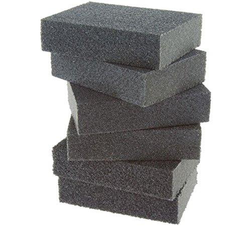 Coral 74300Essentials bloques de esponja de lija de abrasivos con mojado o seco Fine tamaño mediano y grueso granos) unidades 6piezas