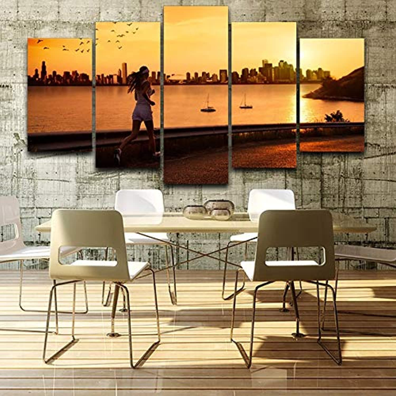 Seleccione de las marcas más nuevas como Xkkzka Sala De De De Estar HD Pintura Impresa 5 Unidades Pc Runner Sunrise Paisaje Decoración del Hogar Cartel Moderno Arte De La Parojo Imágenes-Marco  en linea
