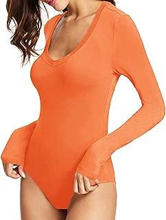 Womens Modal V Neck Short Sleeve/Long Sleeve Bodysuit...