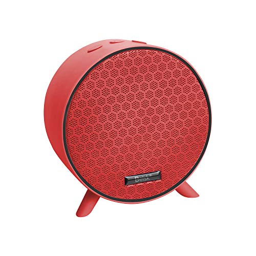 BEISK Altavoz Bluetooth Portatil Inalambrico 5.0, Radio FM, AUX/TF/USB para Movil, Tabletas, Ordenador, Rojo