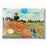 Carmani - Piatto decorativo rettangolare con la pittura di Monet, Papaveri ad Argenteuil...
