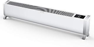 YXP Convector Calentador 2KW, termostato, Temporizador Digital para hogar, radiador de Placa Base con Temporizador de 24 Horas y 3 configuraciones de Calor, Control Remoto
