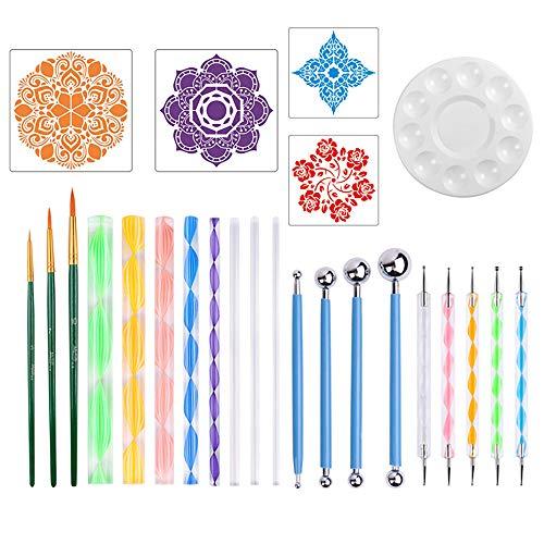 Magiin 26 Stück Mandala Rock Punktierung Werkzeuge, Malerei Dotting Tools Dot Painting für DIY...