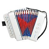 lncboc fisarmonica per bambini fisarmonica giocattolo a 7 tasti, facilissimo suonare e imparare mini fisarmonica ideale per bambini, studenti e principianti