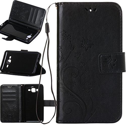Galaxy ON5Fall, harryshell PU Leder Brieftasche Flip Tasche Schutzhülle mit Card Slots und Ständer für Samsung Galaxy ON5G550G5500, A-06