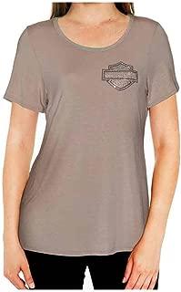 Women's BNS Sleepy Embellished B&S Short Sleeve Lounge Shirt