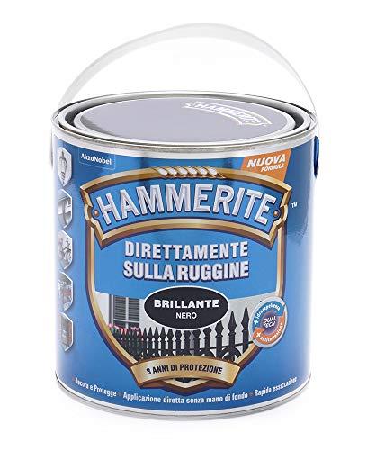 Hammerite Direttamente Sulla Ruggine Brillante Nero 2.5 L