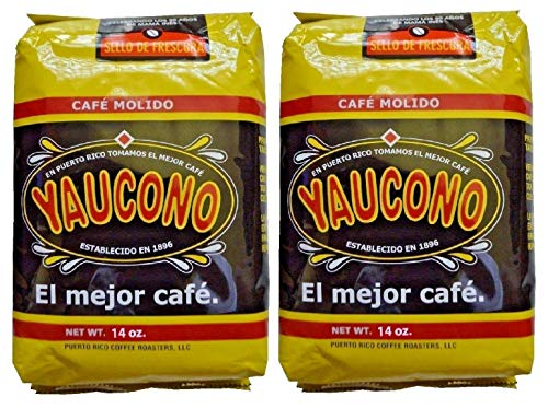 Cafe Yaucono Ground Coffee Puerto Rican, 14 Ounce Bag (Pack of 2)