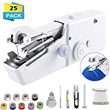 Handheld Sewing Machine, Mini Handy Cordless Portable Sewing Machine, Mini Sewing Machine for Kids Clothes, Home, DIY Accessories (Battery Not Included) (SET-01)