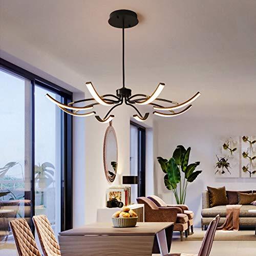 Kronleuchter Metall Modern Klappbare Deckenleuchte,Mit 8 Flammig Lichtpaneelen,100CM Eisenkunst Pendelleuchte Hängelampe 3 Licht-Farbe Faltbarer Lampe für Esszimmer Zimmer Wohnzimmer Küche