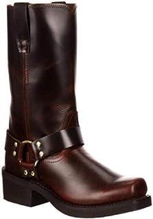 LUXDAMAI Bottes Western Cowboy Bottes D'équitation Classiques à Bout Rond pour Hommes Bottes Moto Durables Chaussures éque...