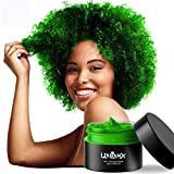 UrbanX Washable Hair Coloring Wax Material Unisex Color Dye Styling Cream Natural Hairstyle Pomade Temporary Party Cosplay Natural Ingredients (Green)