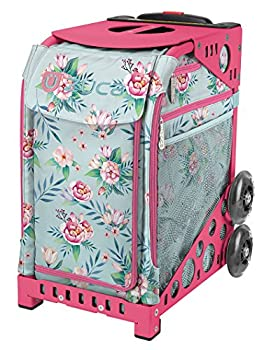 ZUCA Sport Blooms Rolling Bag with Pink Frame