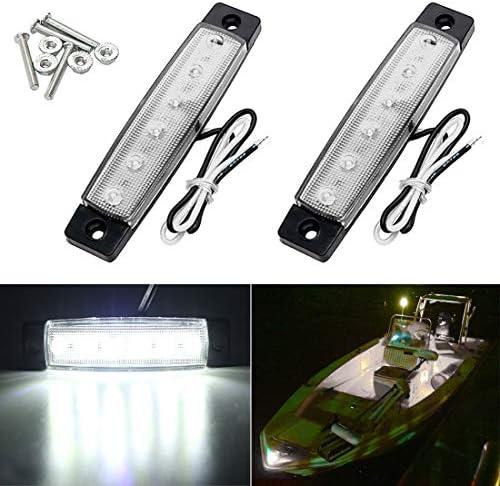 Shangyuan Boat Navigation Lights, Stern Lights for Boats, Marine Led Strip Lights for Boat Lights Bow and Stern, Navigation Lights for Boats Led, Kayak Lights, DC 12V 2PCS (Red and Green)