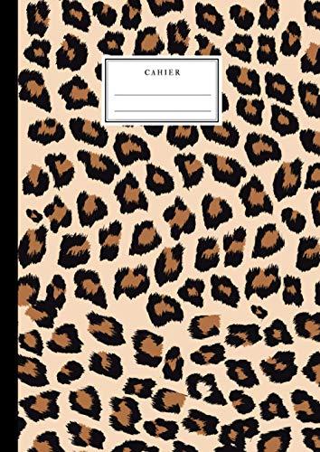 Cahier: Motifs Léopard - A4 21x29,7 cm Grand Carreaux SEYES - Jungle - Beau cahier pour adultes