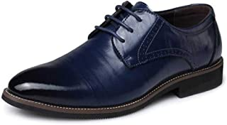 Men's Dress Shoes Simple Business Pointed Flat Oxford Shoes Wedding Shoes