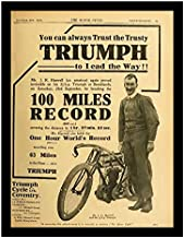 8 x 10 Photo Print Triumph Motorcycle Advertising Early 1900s Vintage Old Advertising Campaign Ads