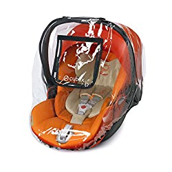 Practical raincover for protecting children from wind and rain on the go - Suitable for CYBEX infant car seats Aton and Cloud Well-made with high-quality material to provide sufficient protection for your child when in the car seat Protective cover w...