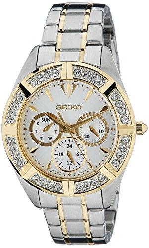 Seiko Lord Chronograph White Dial Women's Watch - SKY676P1
