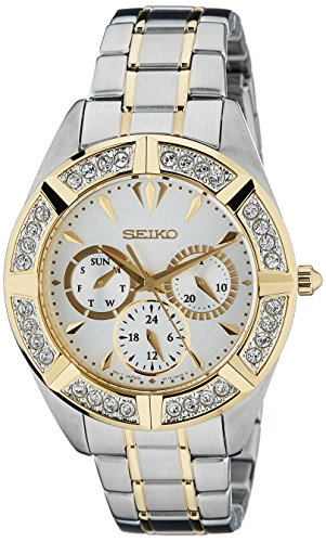 Seiko Lord Chronograph White Dial Women's Watch - SKY676P1