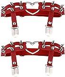 Tgbyhnujm - Anillo para mujer, diseño de corazón, color rojo, talla única