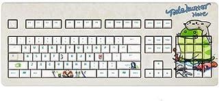 MINHUISHANGMAO Keyboard, Cute Cartoon Design Computer Keyboard, Ergonomic Style Esports Special (French Nemesis Black, 43 ...