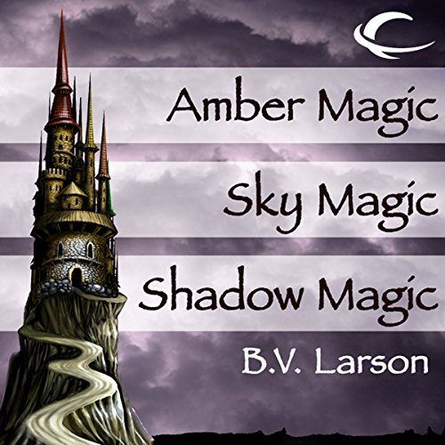 Amber Magic, Sky Magic, and Shadow Magic audiobook cover art
