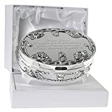 De Walden Girl's 60th Birthday Gift Engraved Silver Plated Rose Trinket Box in a Presentation Box, Birthday Gift for Girls Sixtieth 60