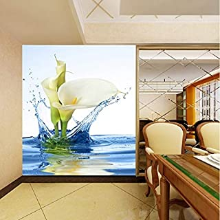 TIANXINBZ Lovely Rose Dancing Lake Gold Fish Butterfly Wallpaper for 3d Wall Living Room Natural Mural Rolls Corridto Aisl...