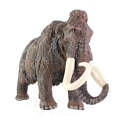 Forart Mammut lanoso Naso Lungo Giocattoli realistici, Elefante farcito con zanne, Figurina Giocattolo Morbido Dipinto a Mano Giocattolo educativo per Bambini